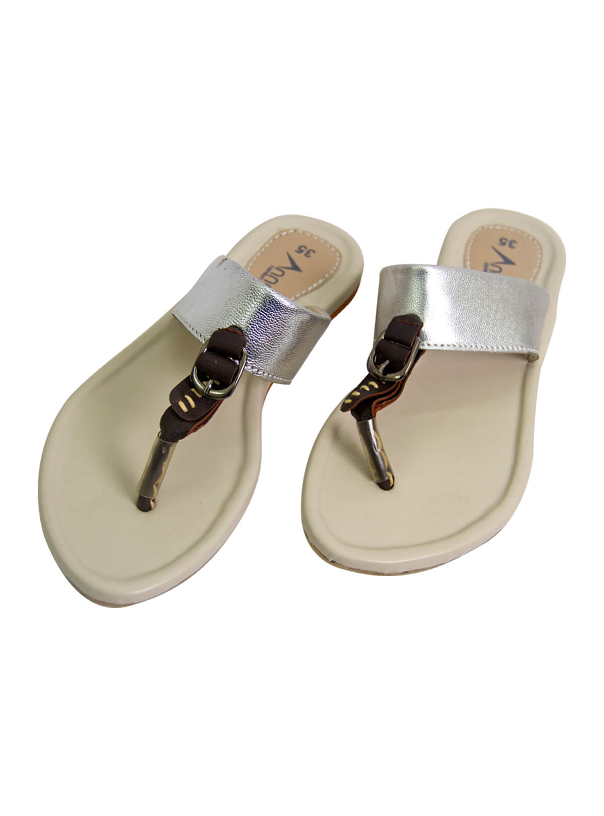 Silver Sand Grey Ladies Sandal