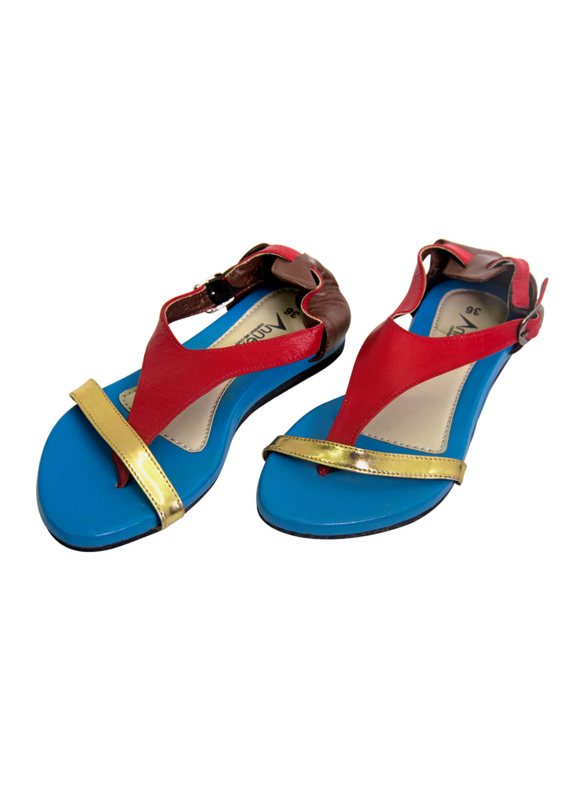 Red and Blue Ladies Sandal