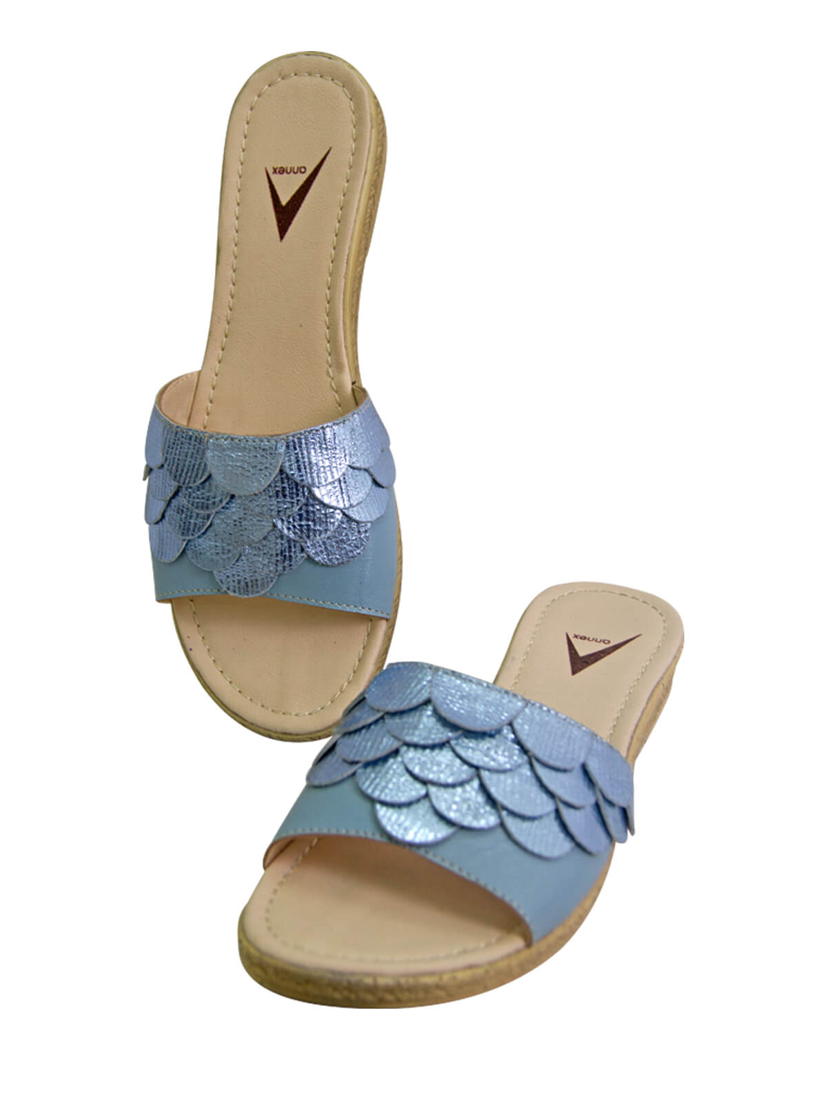 Horizon Blue Ladies Leather Sandal