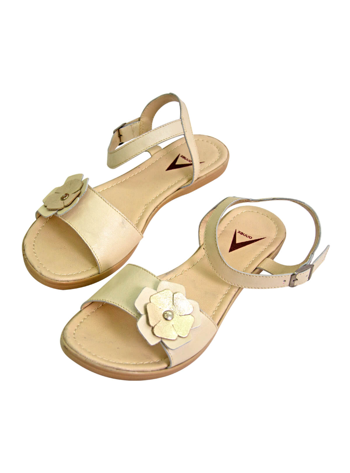 Spanish White Ladies Leather Sandal