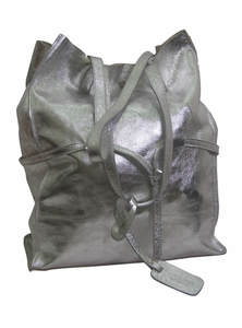 French Grey Fowel Leather Family Tour Bag