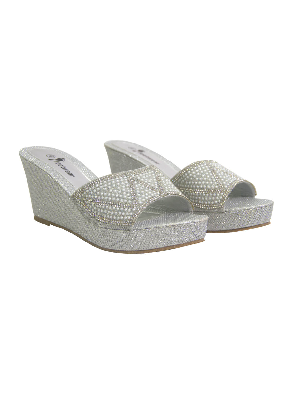 Mountain Mist Grey Flat High Heel Ladies Sandal