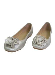 Dark Gray Leather Ladies Pump Shoe