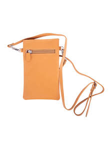 Harvest Gold Yellow Leather Mobile Bag