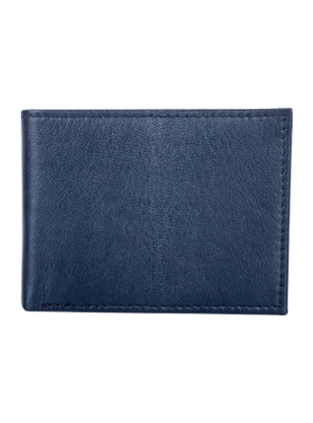 East Bay Blue Leather Wallet Plain