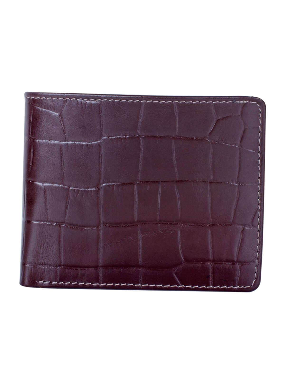 Barossa Violet Leather Embossed Wallet