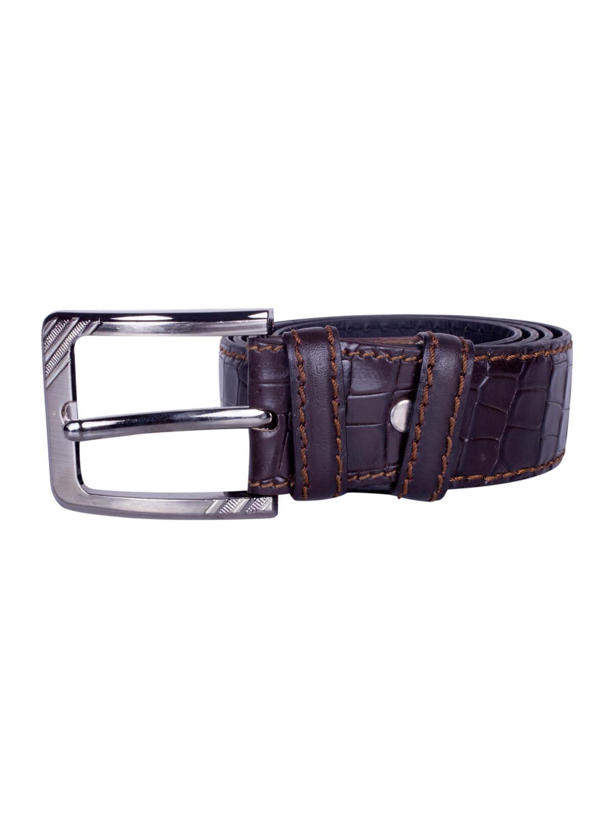 Violet Leather Embossed Belt