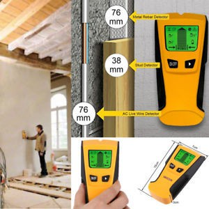 3 In 1 Stud Finder Wood Metal Detector Wiring AC live Wire Wall Scanner Detector Electric Box Finder