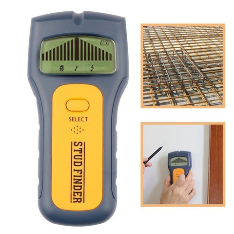 Digital Wall Metal Detectors Wire Wood Stud Metal Detector AC Voltage Live Wire Wall Behind Scanner Sound Alarm Decoration Tools