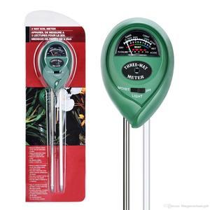 3-Way Soil Meter Greenhouse Soil pH Meter PH Light Moisture Detection Gardening Supplies Measurement Tool No Battery Power