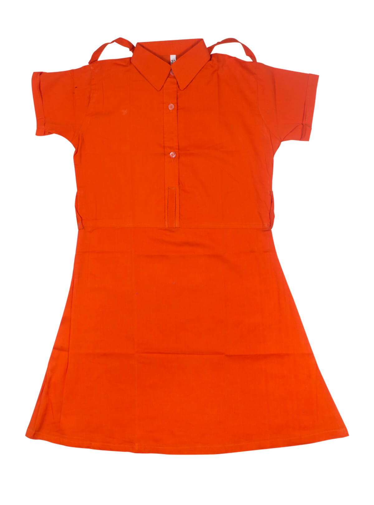 Orange Green Girls School Dress Frock