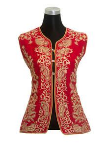 Falu Red Cotton Ladies Jacket Koti