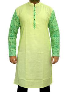 Coriander Green Cotton Panjabi