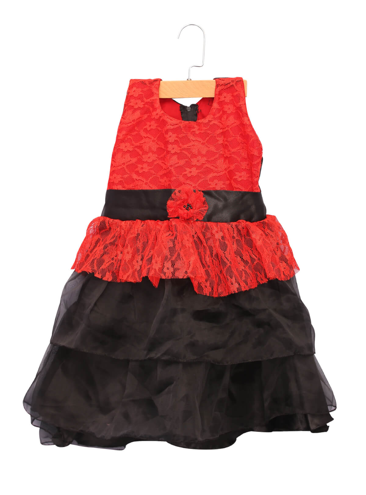 Red and Black Baby Frock For Girls
