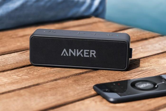 Black Anker A3105 Portable Bluetooth Speaker