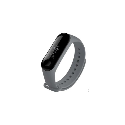 Mi Band 3 Silicon Strap(Black, Deep Blue, Sky Blue, Orange, Gray)