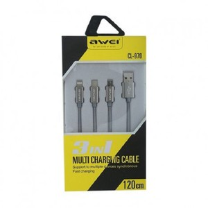Awei CL-970 3 in 1 Multi Charging Cable