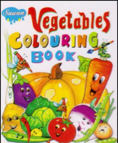 Vegetables Colouring Book