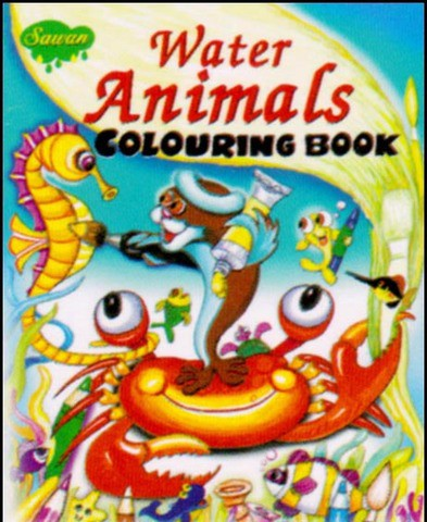 Water Animals Colouring Book
