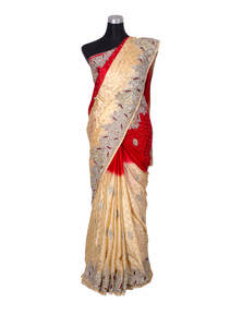 Scarlet Bridal Karchupi Saree