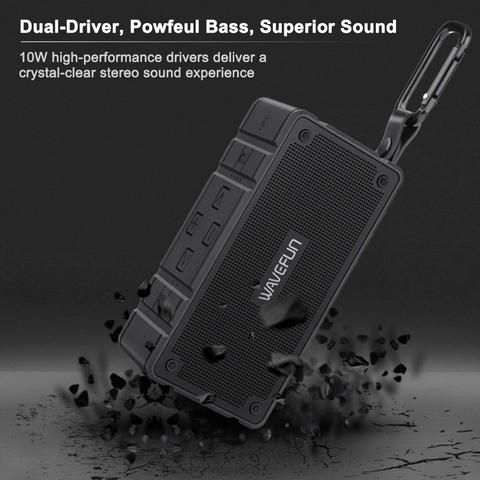 Wavefun Cuboid Wireless Bluetooth Speakeer with IP65 Waterproof