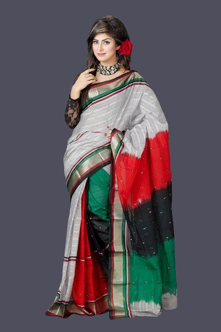 Multi Color Gas Silk Saree