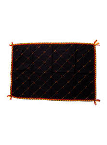 Black Khadi Cotton Baby Nakshi Katha