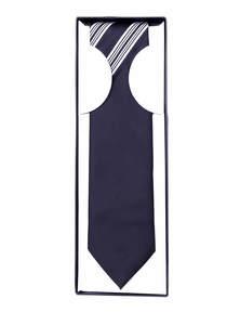 Black White Half Silk General Tie