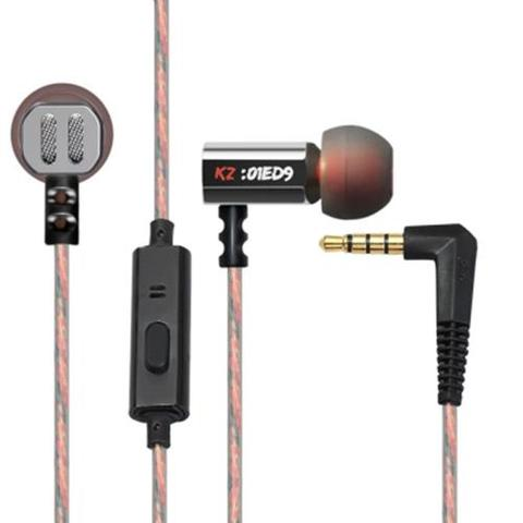 KZ-ED9 In-ear Super Bass HiFi Earphones with Microphone-Black
