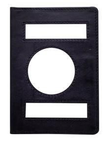 Black Leather Passport Cover