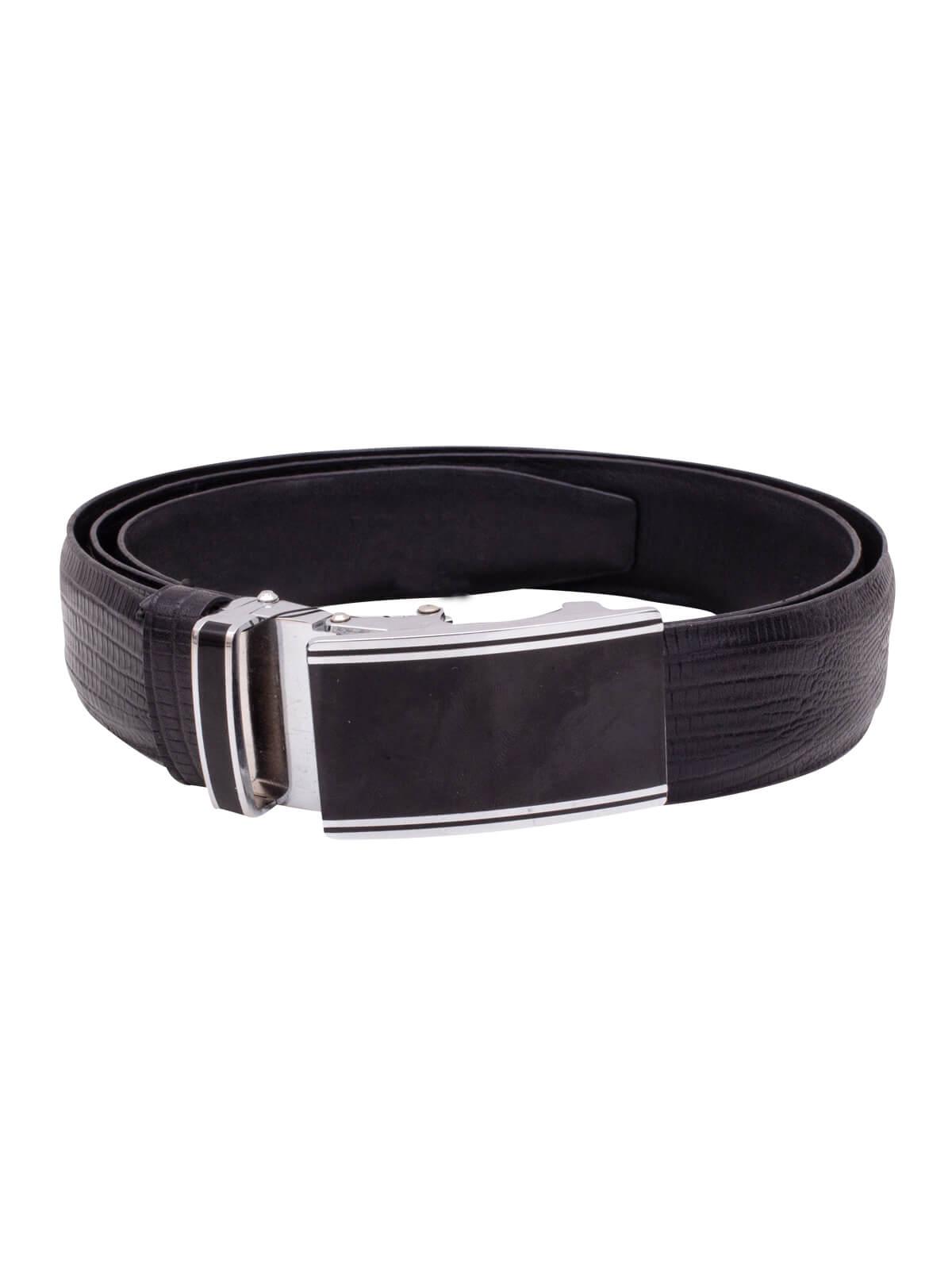 Black Leather Gents Belt