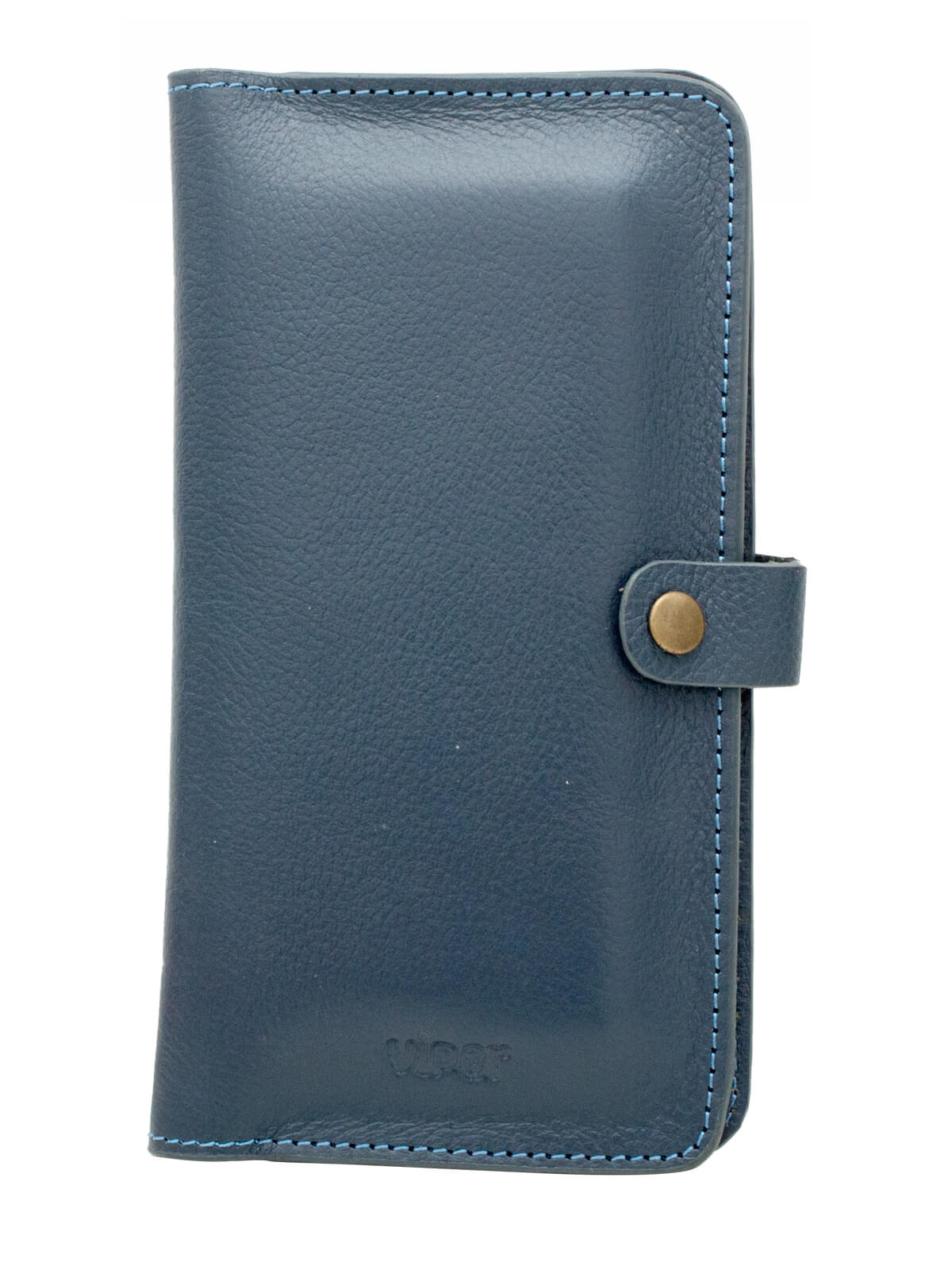 Blue Leather Mobile Wallet