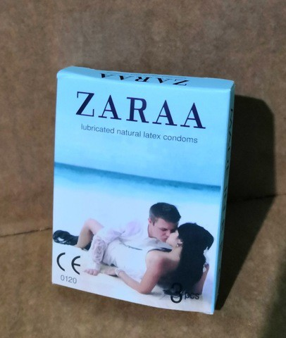 ZARAA Plain Condom (Small Pack-Jasmine)
