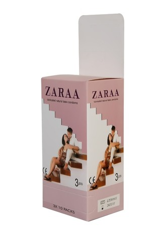 ZARAA Plain Condom (Rose-Large Box)