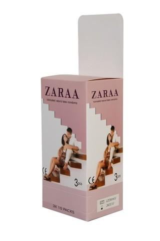 ZARAA Plain Condom (Rose-Large Box)