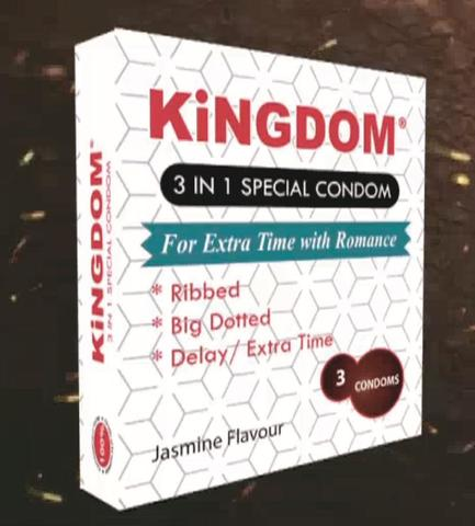 KiNGDOM 3in1 Special Condom (Small Pack)