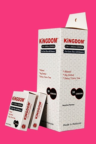 KiNGDOM 3in1 Special Condom (Large Pack)