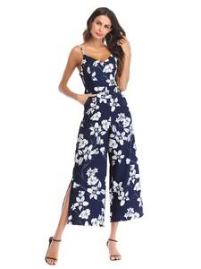 Lovebitebd Floral Striped Jumpsuit Romper For Women