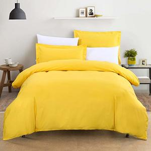 Ortha king size double part comforter - Yellow
