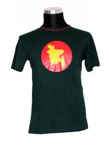 Green Cotton Short Sleeve T-Shirt