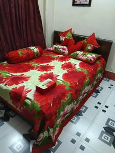 8 pecs king size bedsheet set - Olive Red