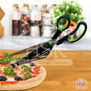 Multiple-Use Stainless Steel Pizza Scissors/Cutter, Detachable/Removable Pizza Board