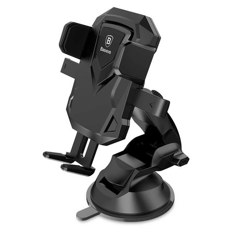 Aichoic Baseus ABS + Silicone Robot Car Bracket 360 Degree Rotation Sucker Holder for Mobile phone Suitable for width 52mm-90mm