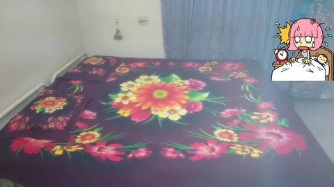3 pieces king size bedsheet set - flora design