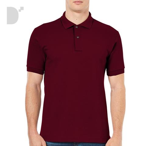 Classic Polo Shirt in Berry Red