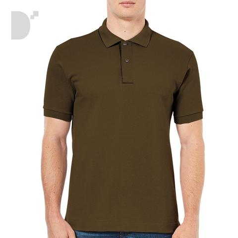 Classic Polo Shirt in Choco Brown