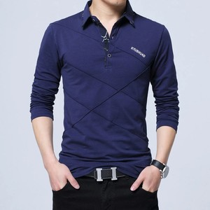 Polo Shirt Long Sleeve Casual Male Shirt Mens polo Shirts