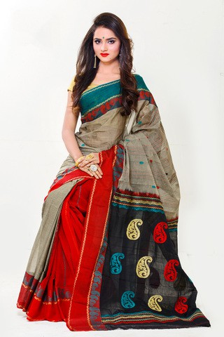 Handwork Multi Color Maslice Cotton Saree