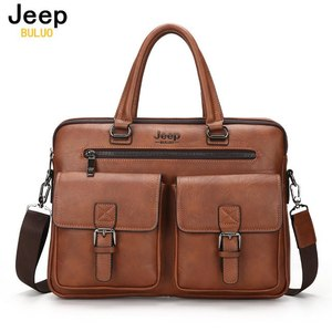 JEEP BULUO Famous Brand New Design Men's Briefcase Satchel Bags