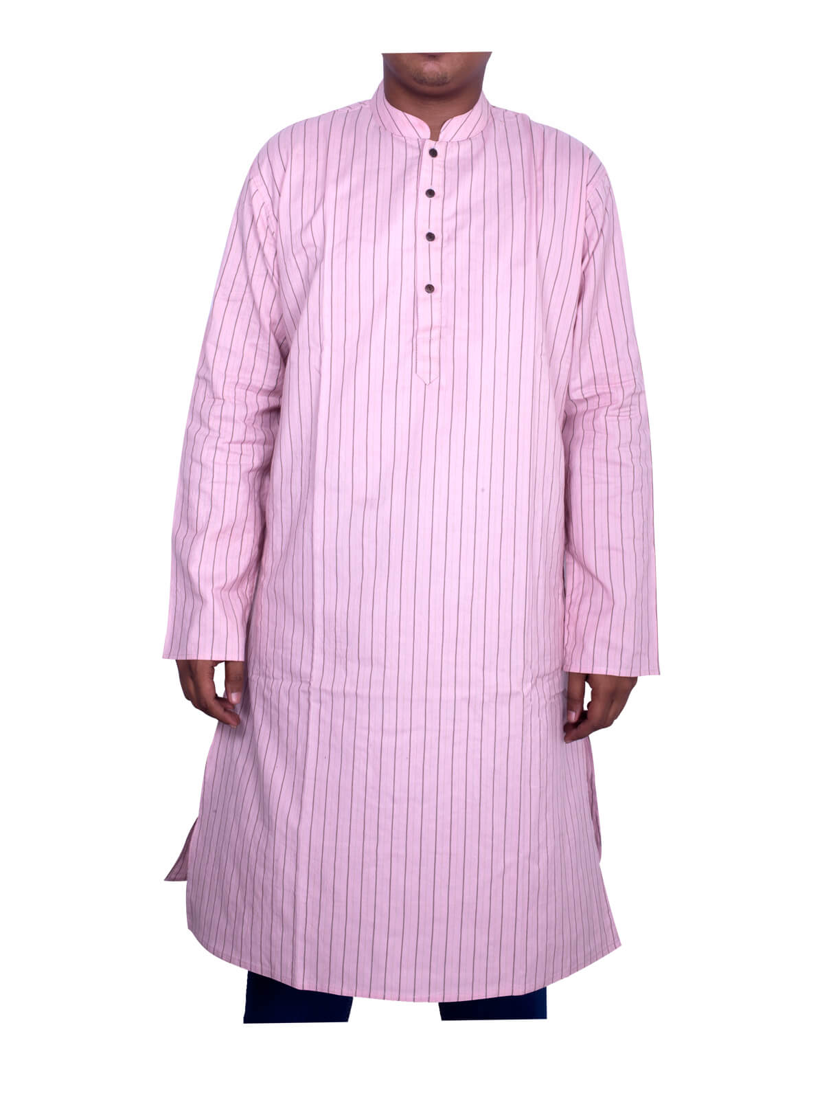 Pale Pink Cotton Panjabi